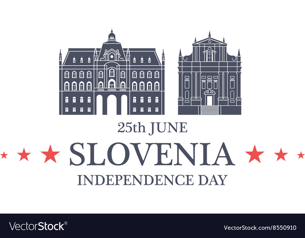 Independence Day Slovenia vector image