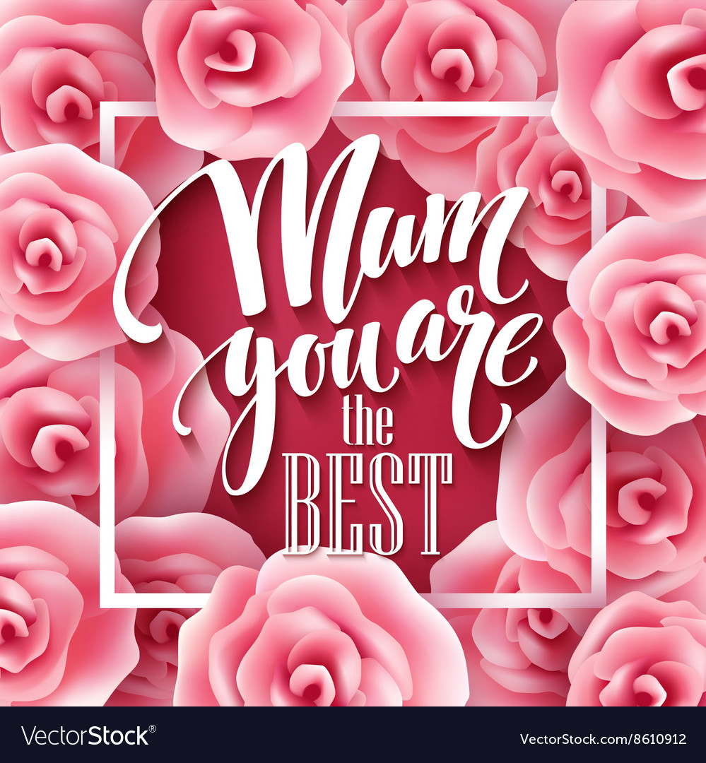 Happy mothers day lettering mothers day greeting vector image kristyandbryce Image collections