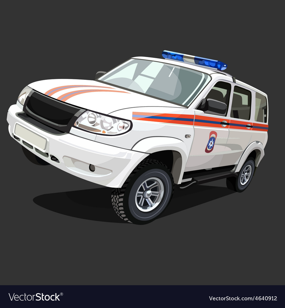 suv police car with flashing lights royalty free vector