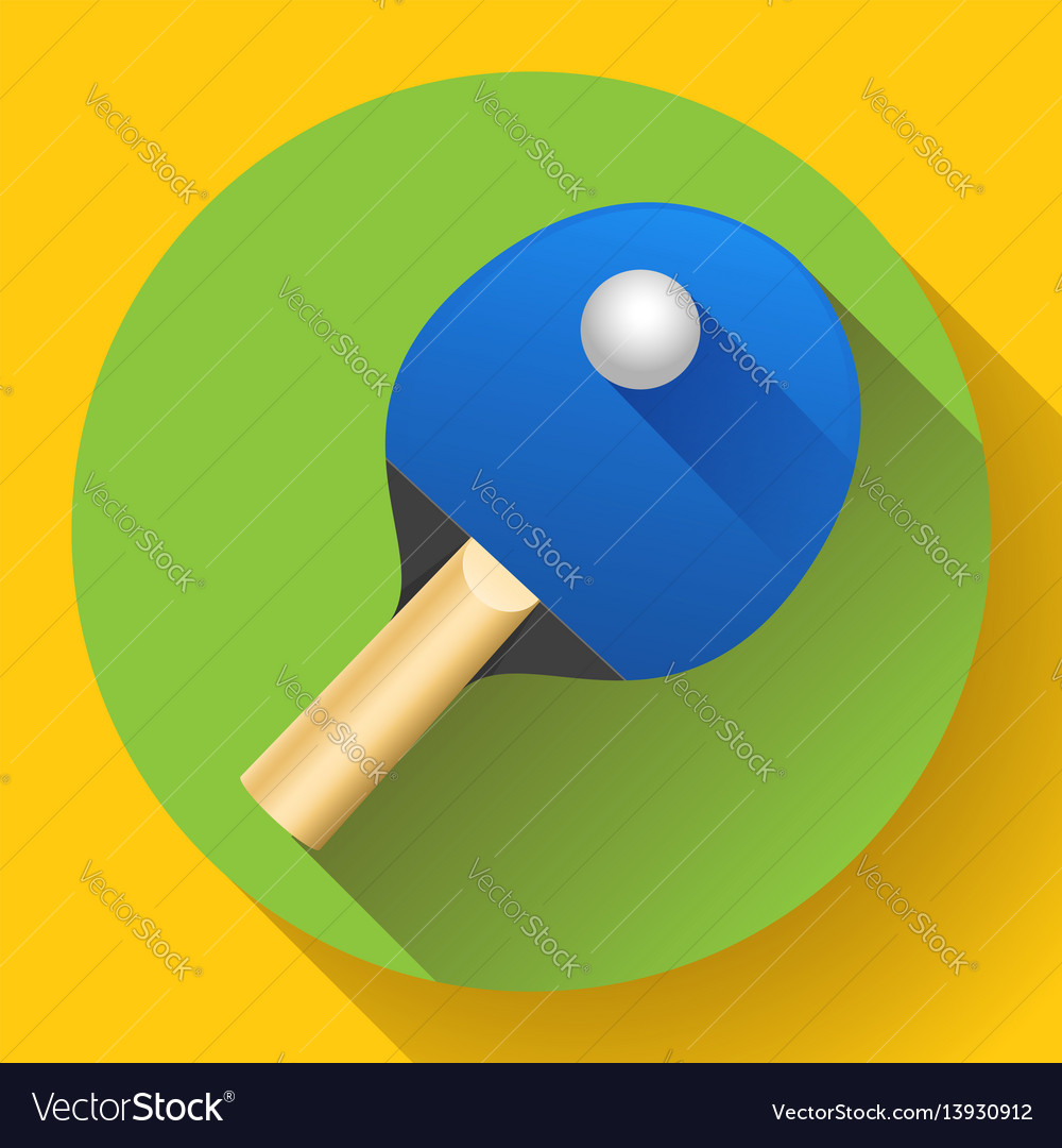 Table tennis racket with ball vector image