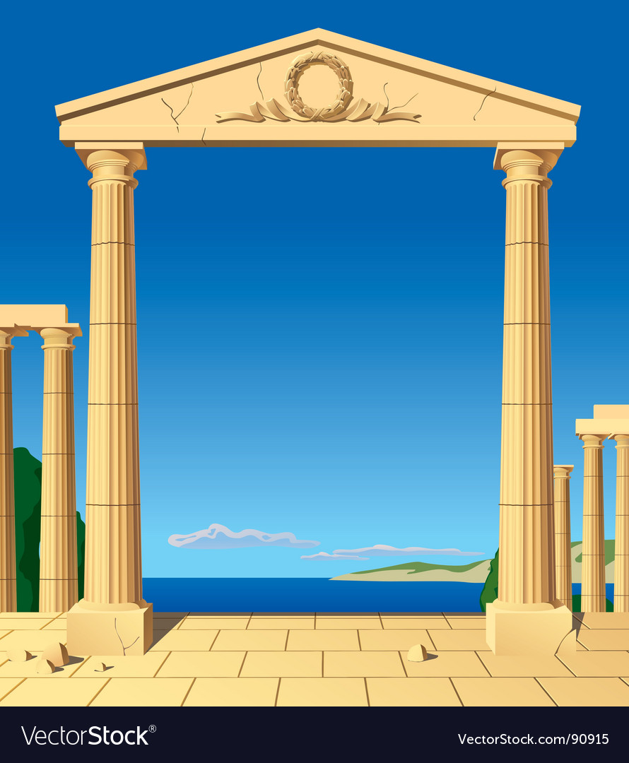 Antic entrance vector image