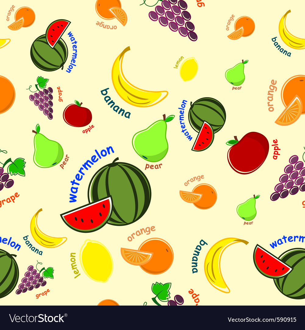 Fruit wallpaper vector image