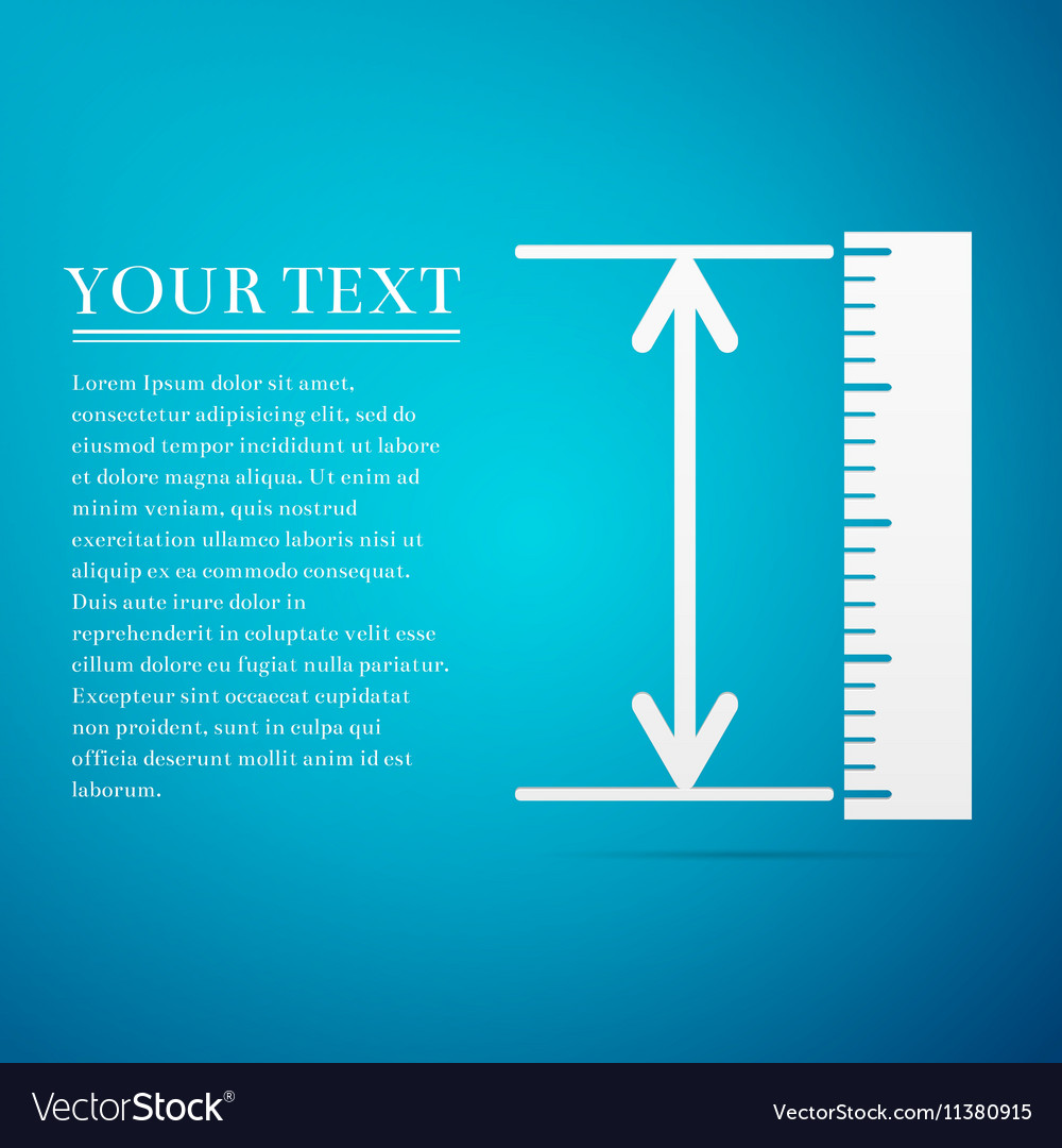 The measuring height and length icon Ruler vector image