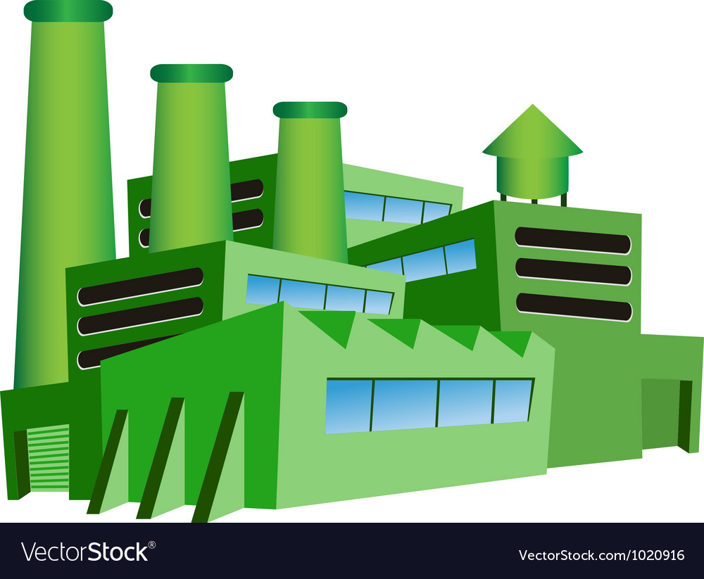 Green factory Vector Image
