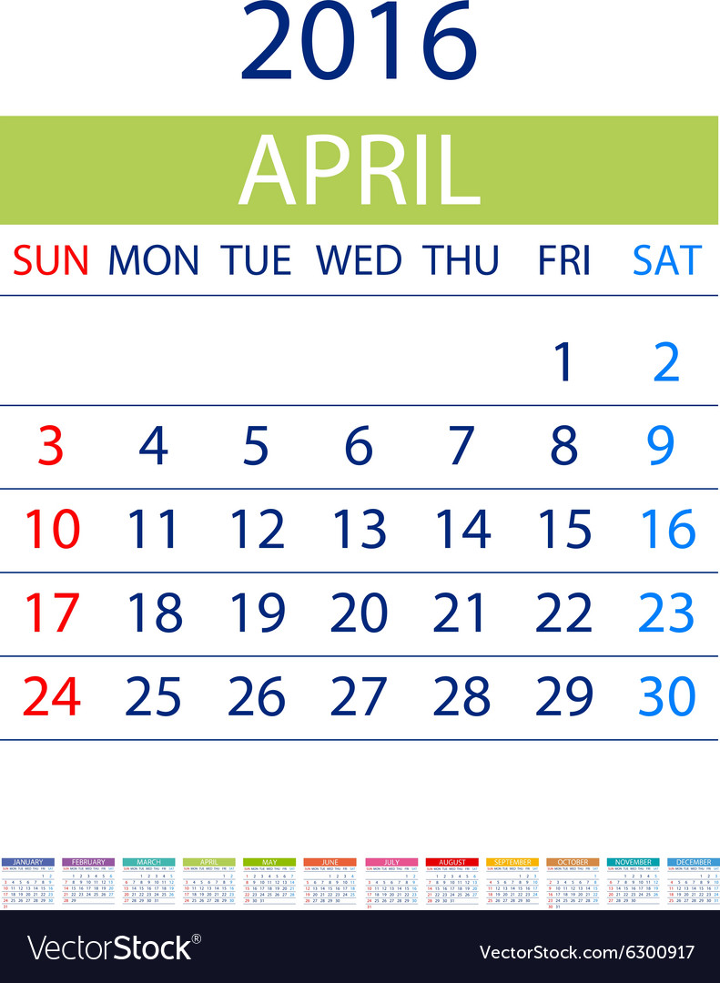 Calendar Design Date : Calendar simple design date template month vector image