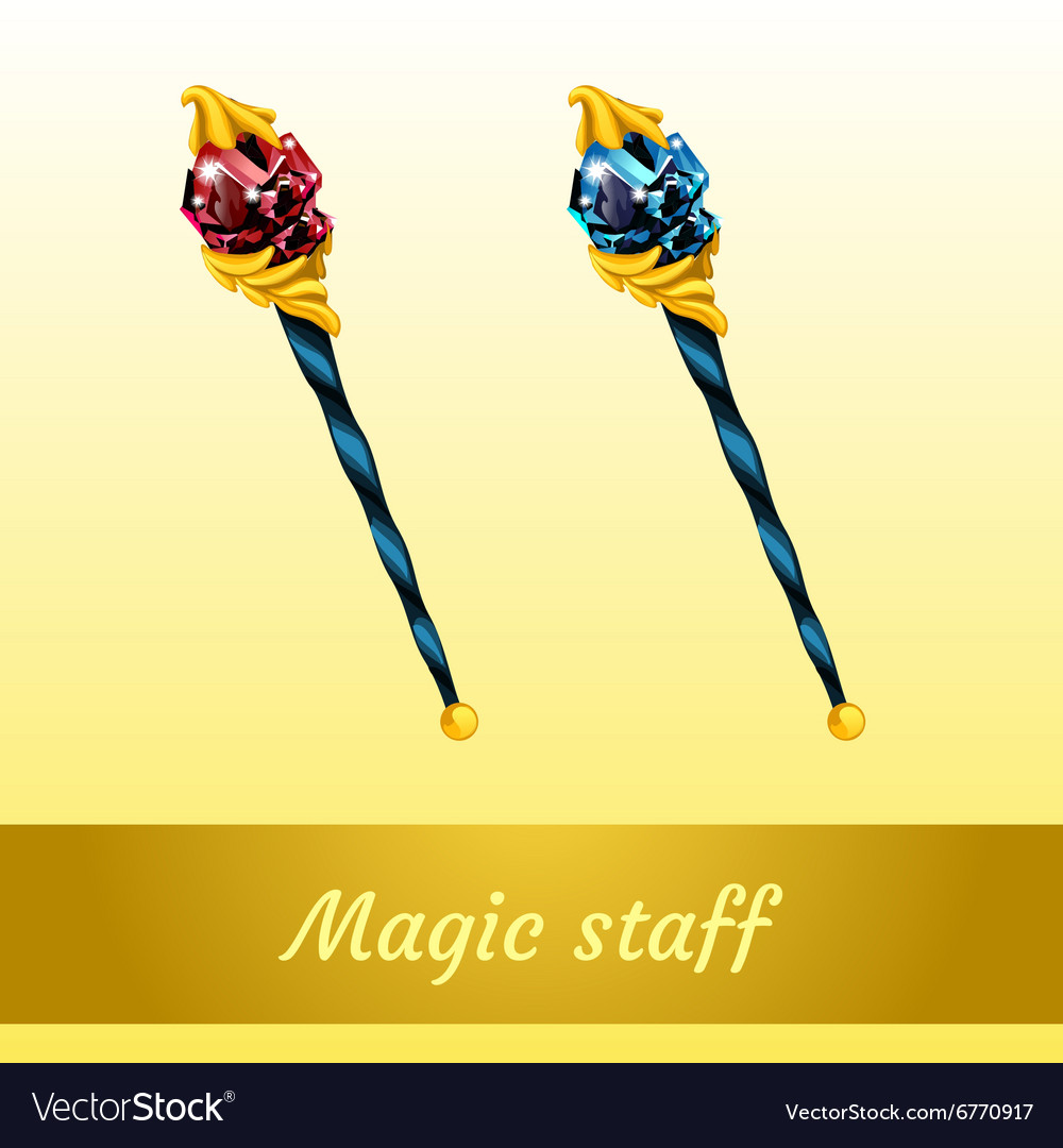 Two magical artifact of the wizard vector image