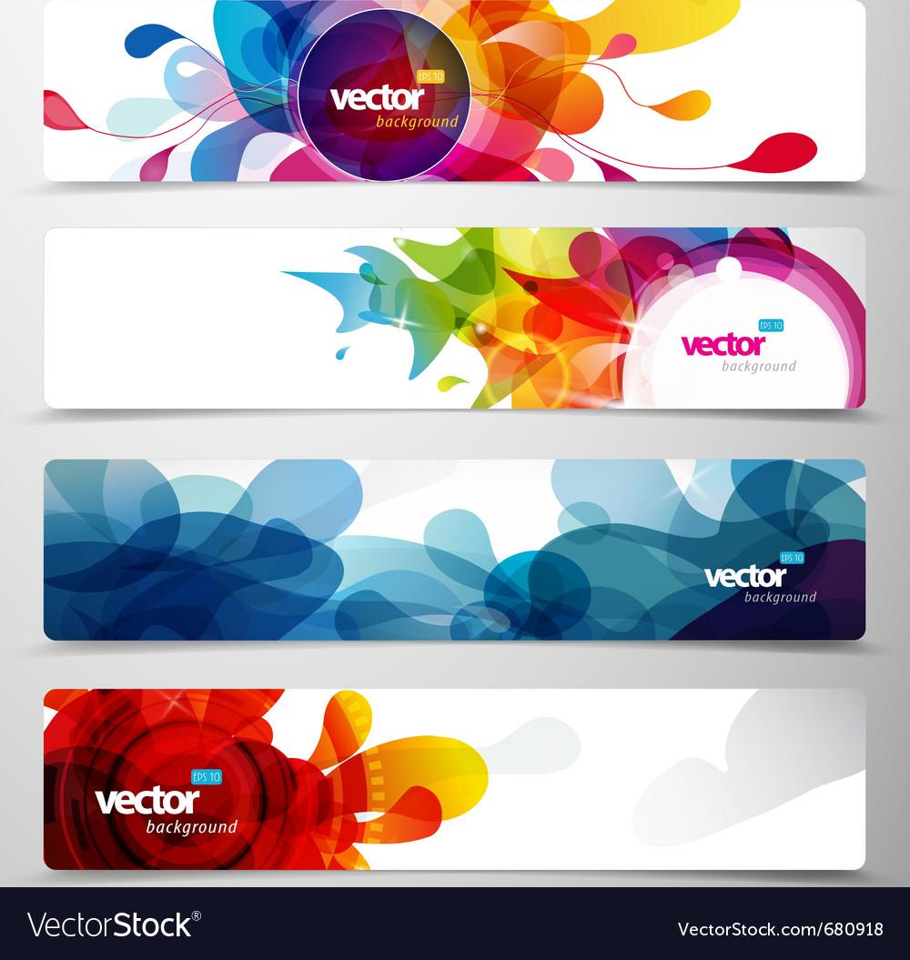 Web headers Vector Image