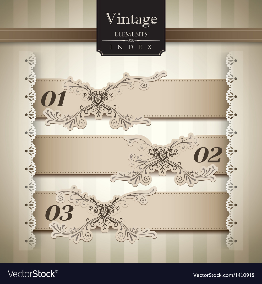 Vintage style Bar Graph vector image