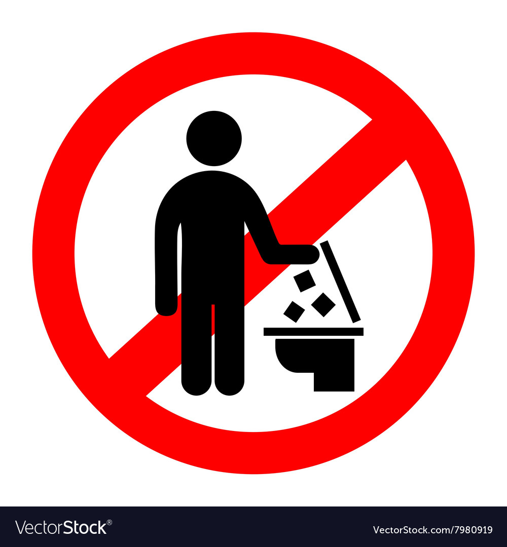 Do not throw trash in the toilet vector. No  Throw  In   Toilet Vector Images  41