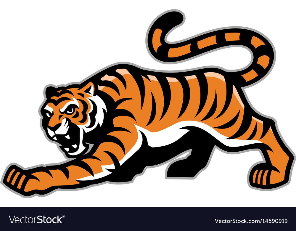 Tiger mascot vector image