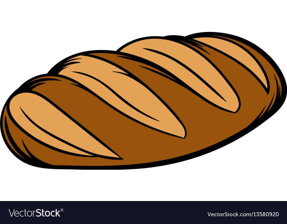 Fresh bread can icon cartoon vector image