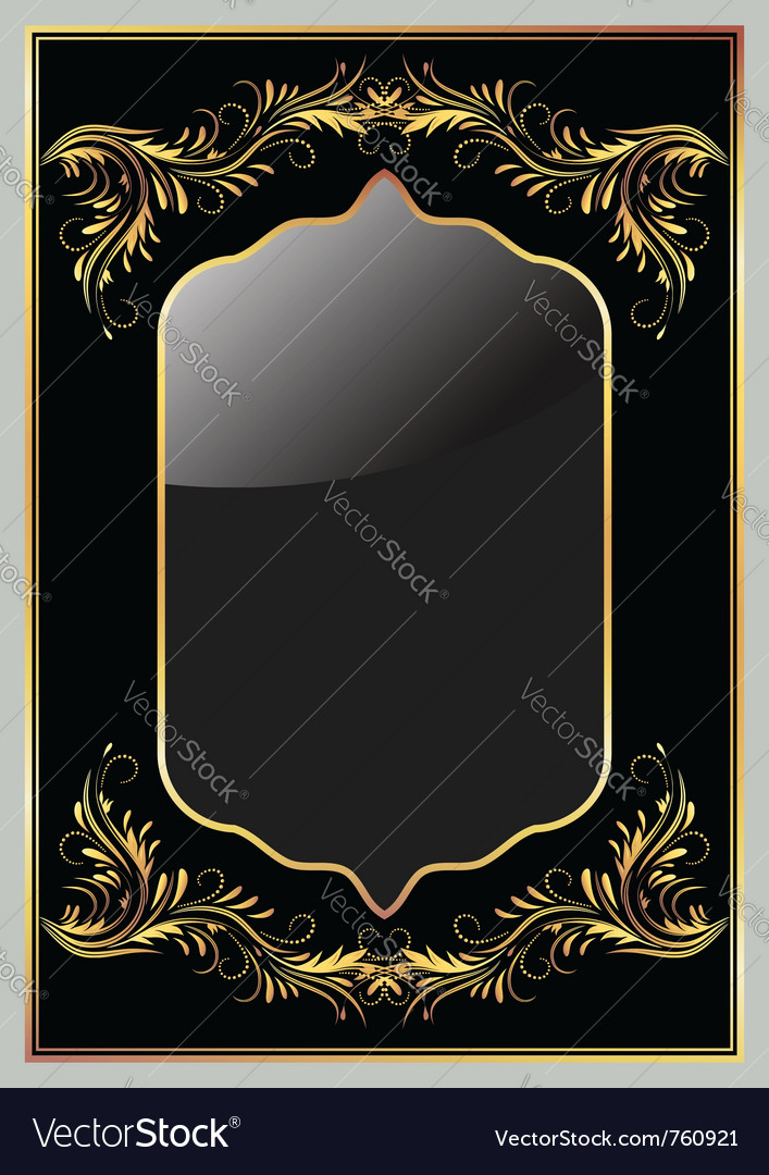 Luxury golden ornament Vector Image