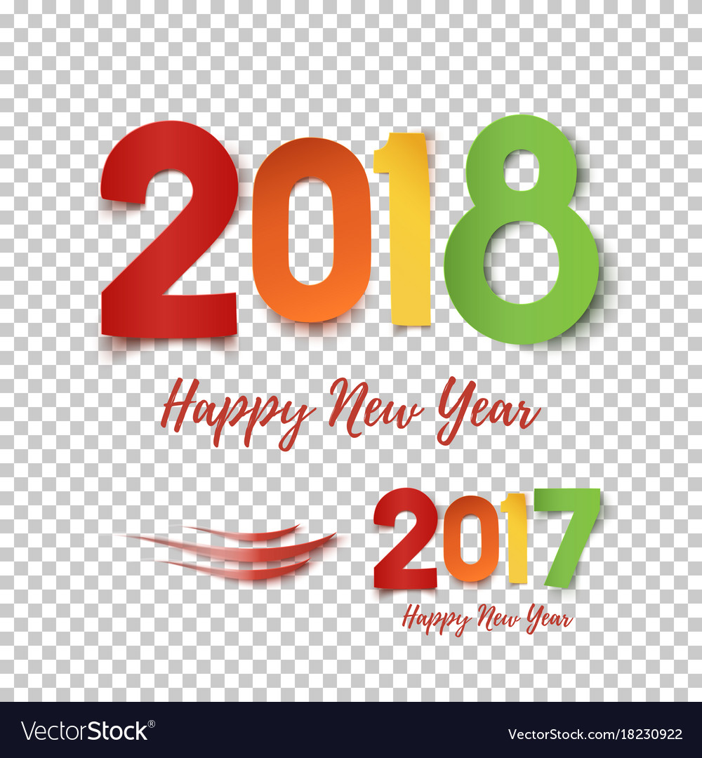 Happy new year 2017- 2018 template for poster vector image