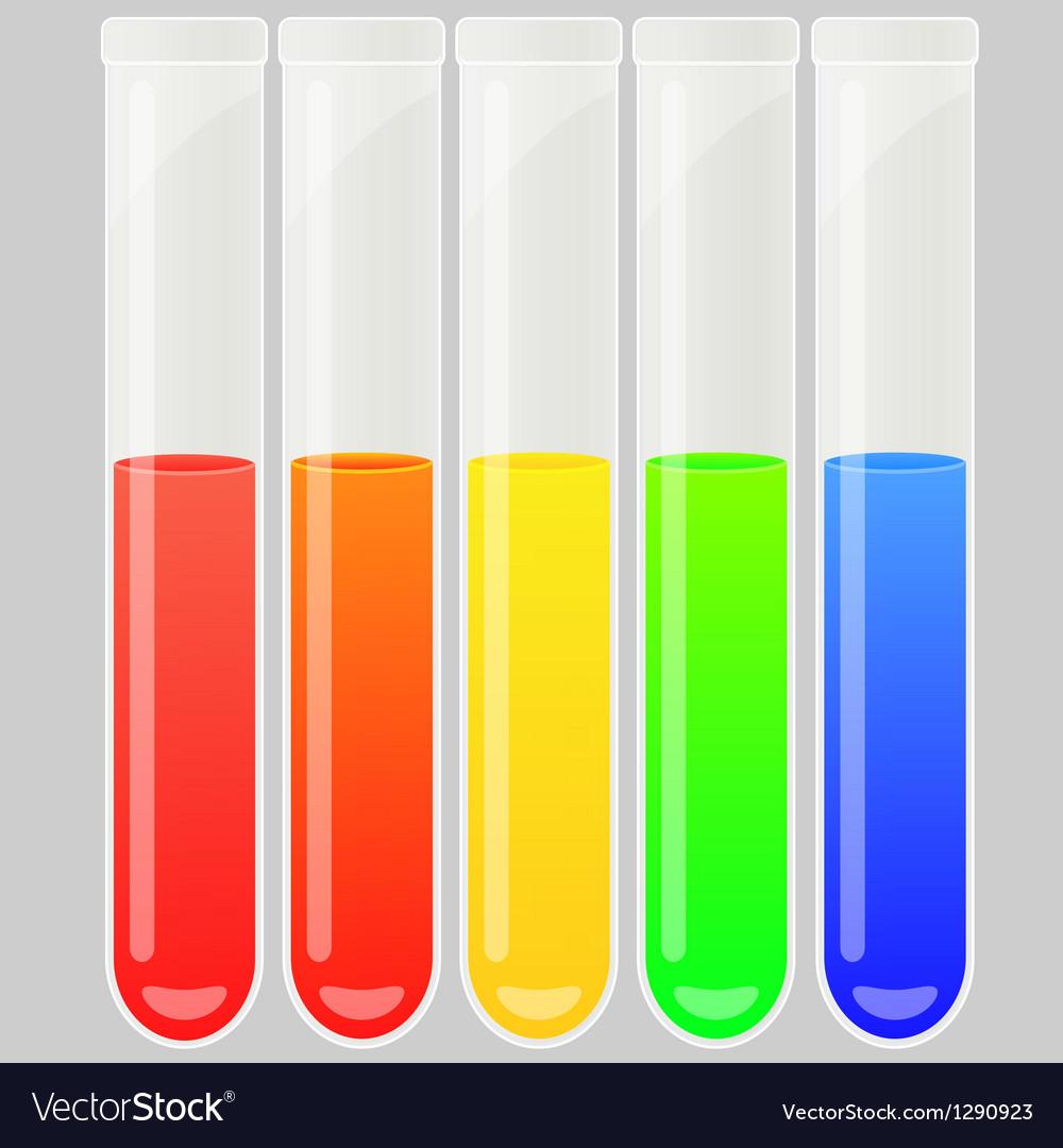 Test tube set vector image