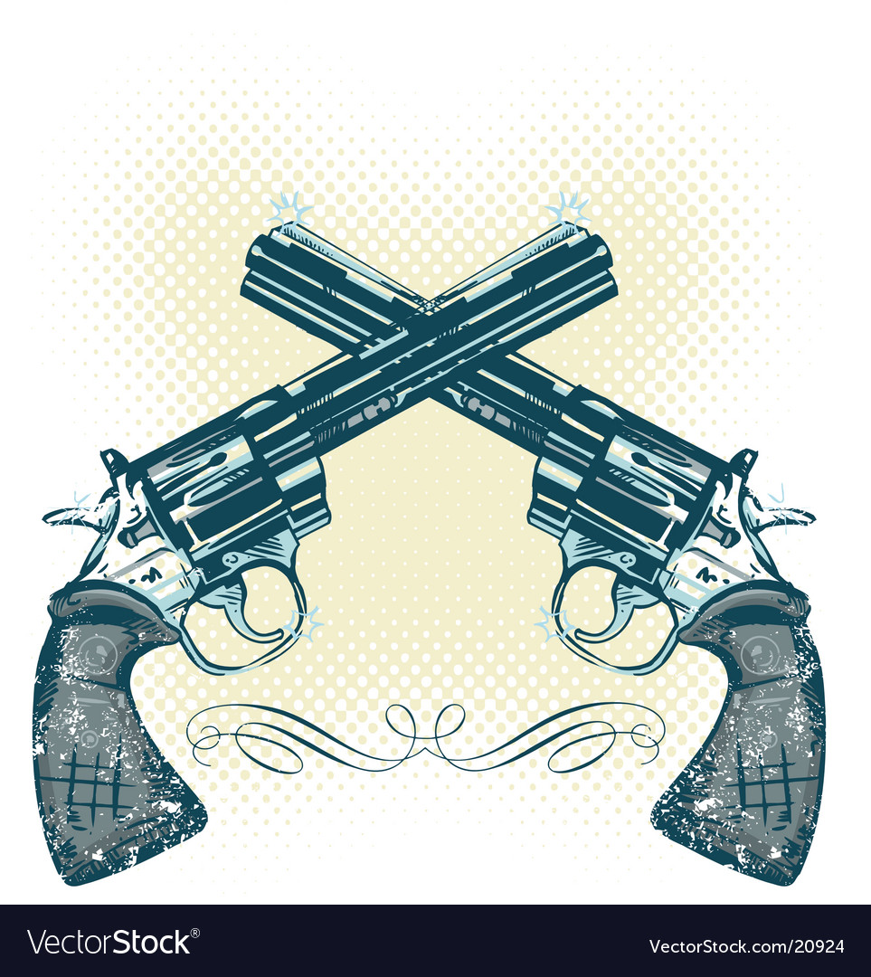 Hand gun illustration vector image