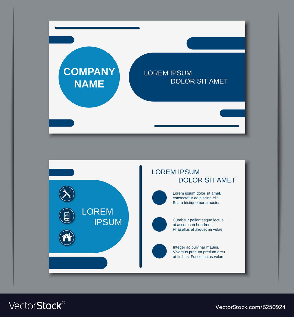 Modern business visiting card Royalty Free Vector Image – Visiting Card