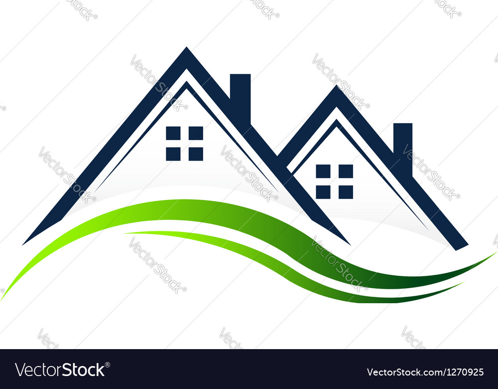 Houses Real Estate logo Royalty Free Vector Image
