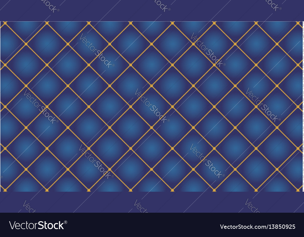 Abstract modern pattern with golden elements vector image