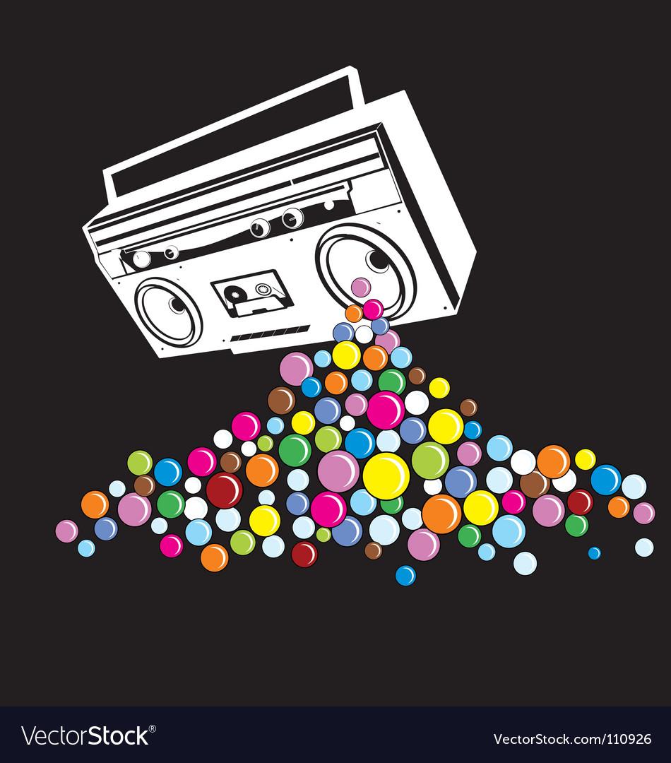 Music pop vector image