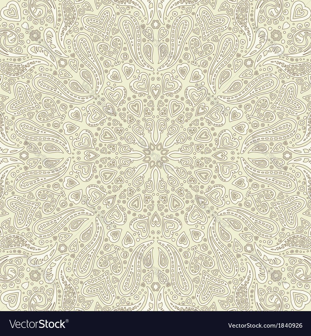 Paisley Cream Background Royalty Free Vector Image
