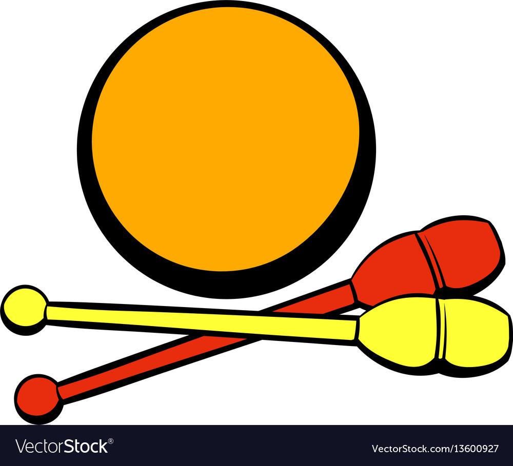 Bowling ball and pins icon icon cartoon vector image
