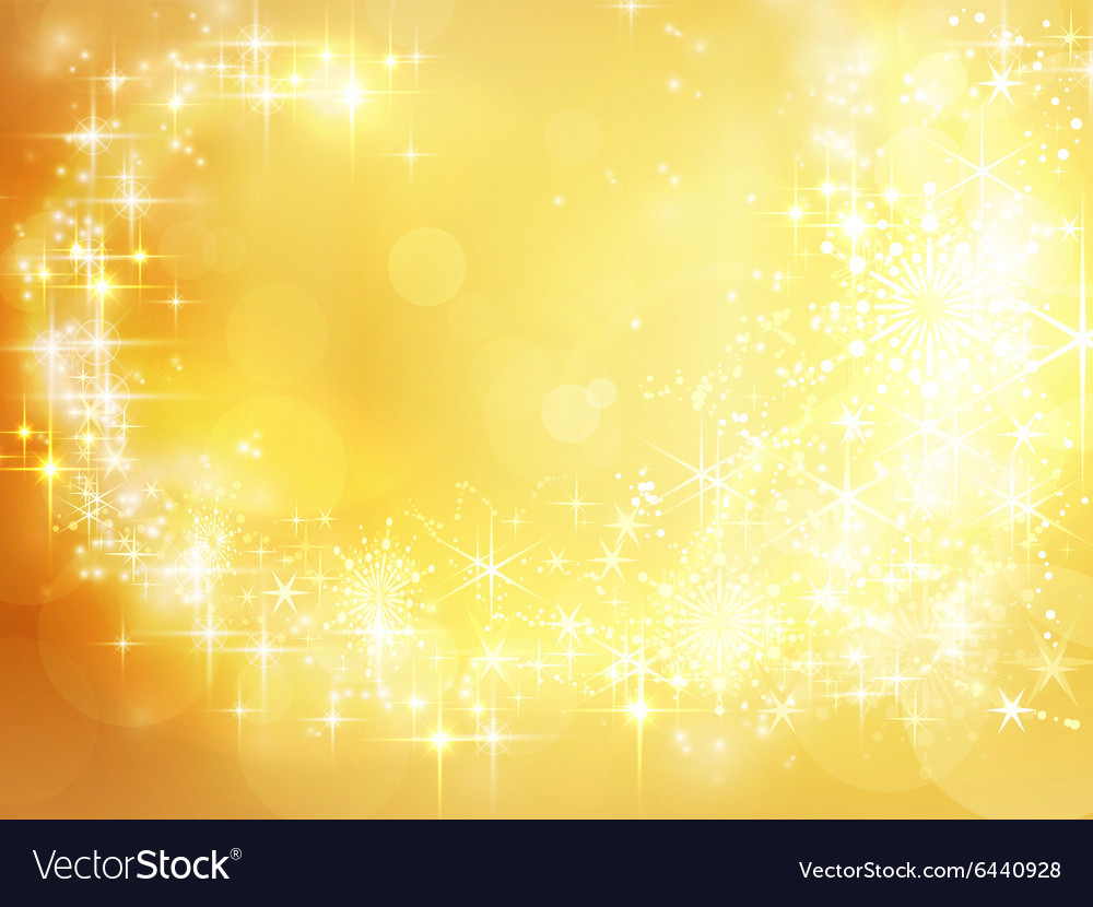 Abstract golden holiday Christmas vector image