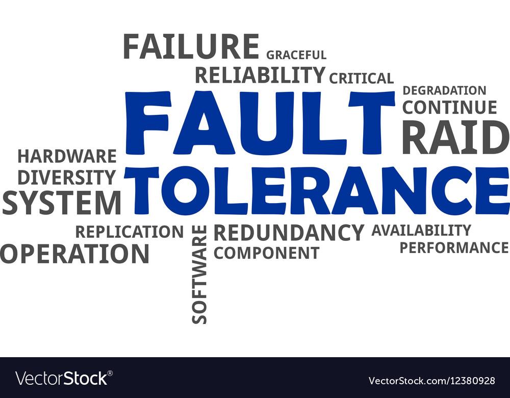 Word cloud fault tolerance vector image