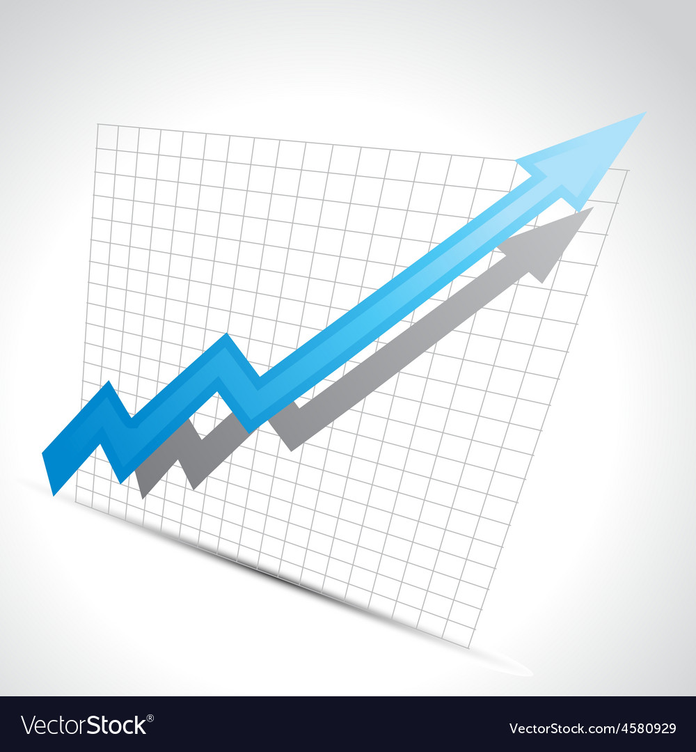 Business arrow vector image