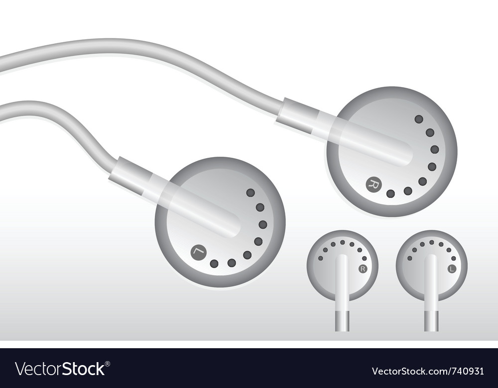 Earphones design vector image
