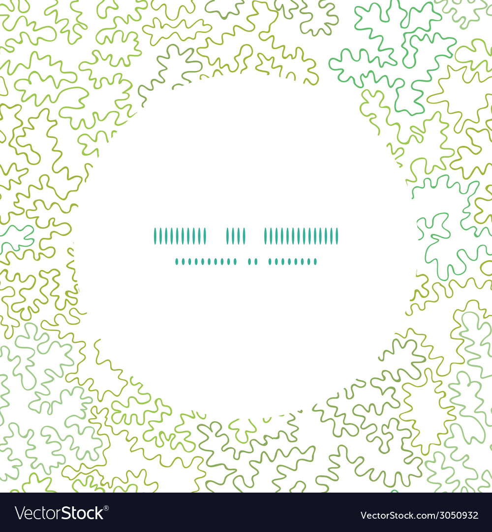 Curly doodle shapes circle frame seamless pattern vector image