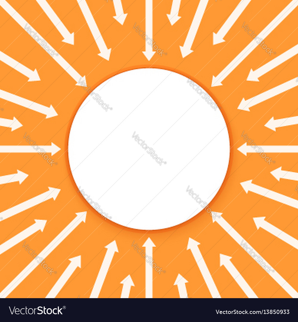 Arrows infographic background business processes vector image