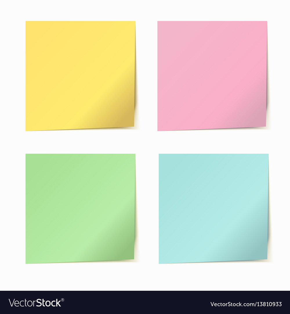 Set of color paper sticker vector image