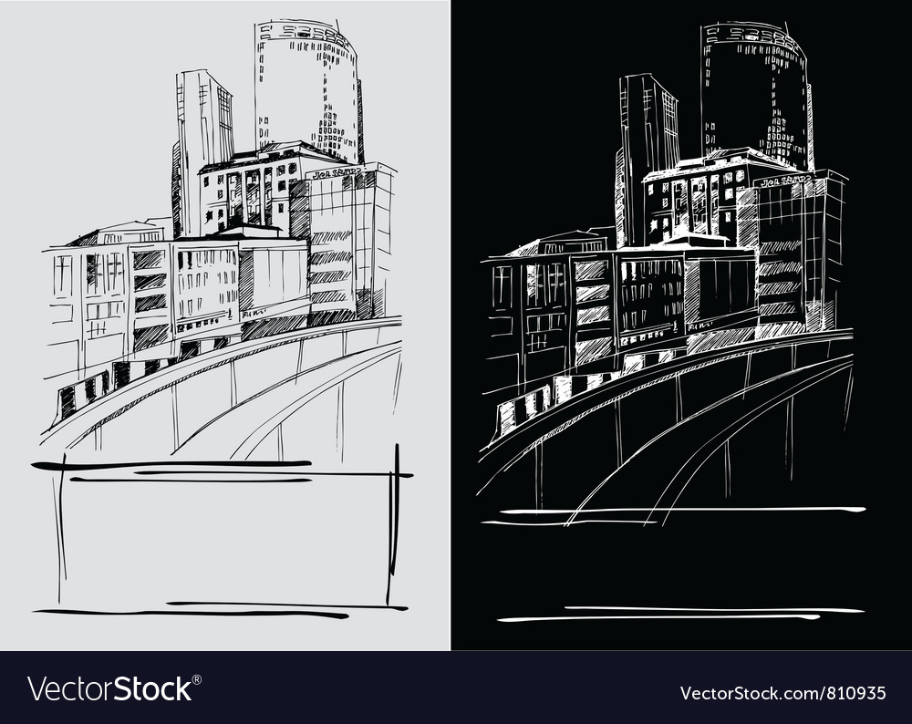 City sketch vector image