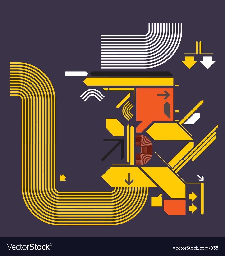 Modern design shapes vector image