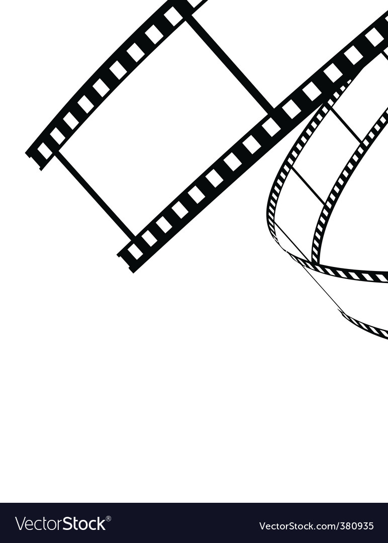 Vector film rolled down vector image