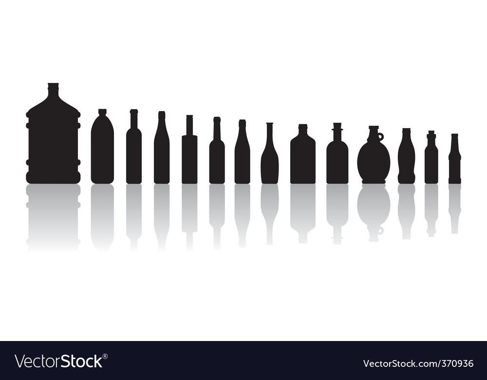Black bottles vector image