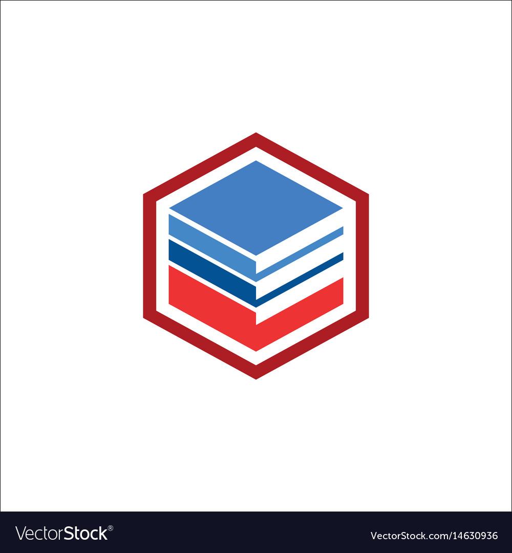 Cube data business logo vector image