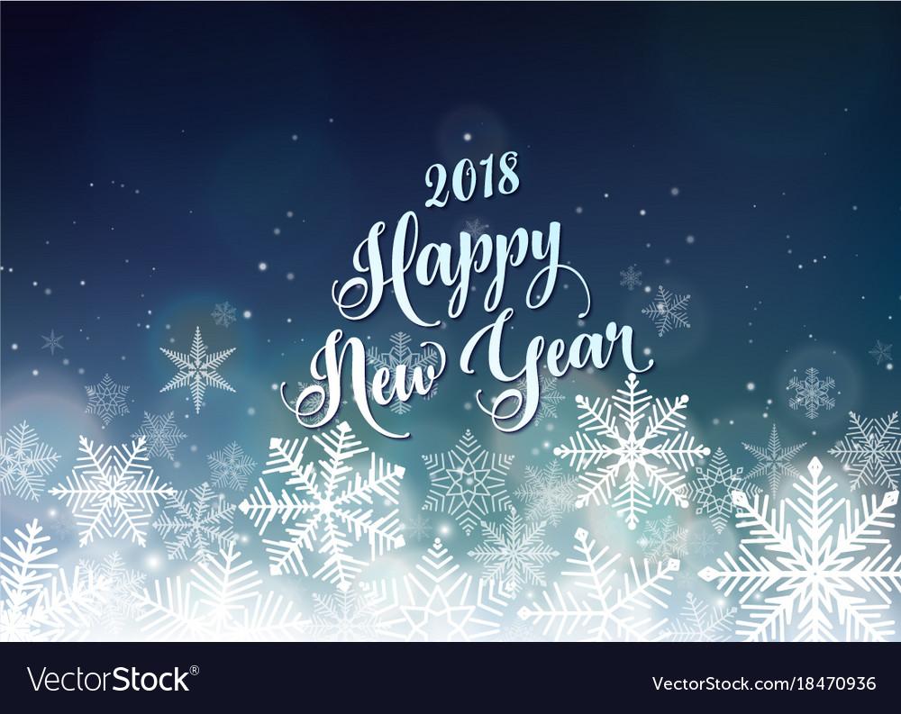 Happy new year 2018 banner seasons greetings card vector image kristyandbryce Choice Image