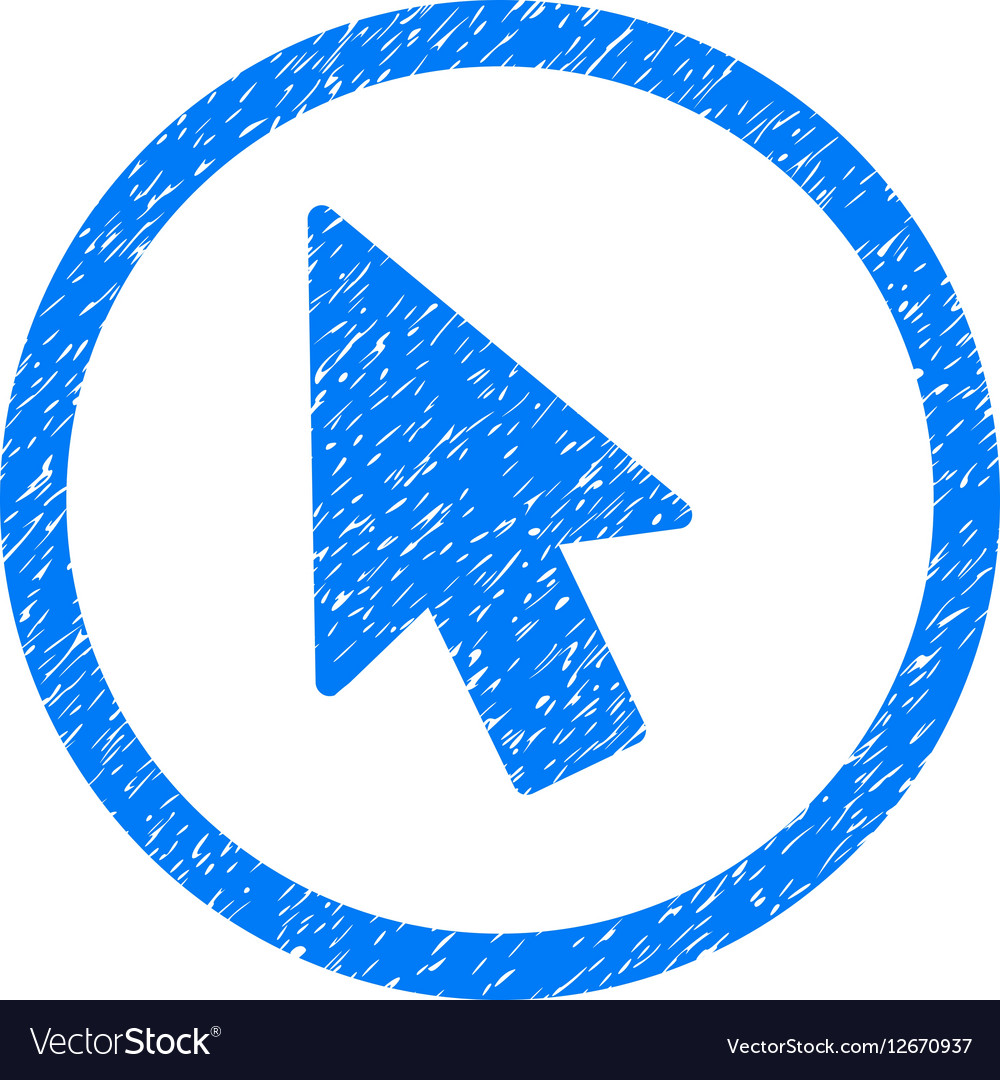 Mouse Pointer Rounded Icon Rubber Stamp vector image