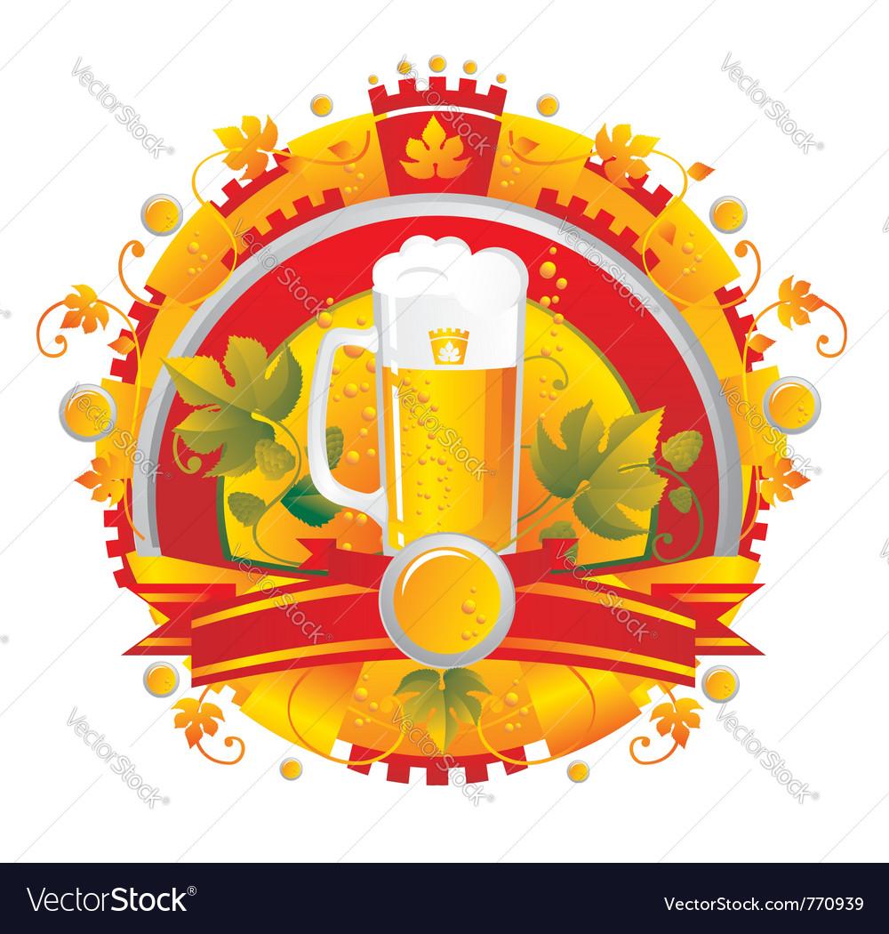 Beer mug vector image