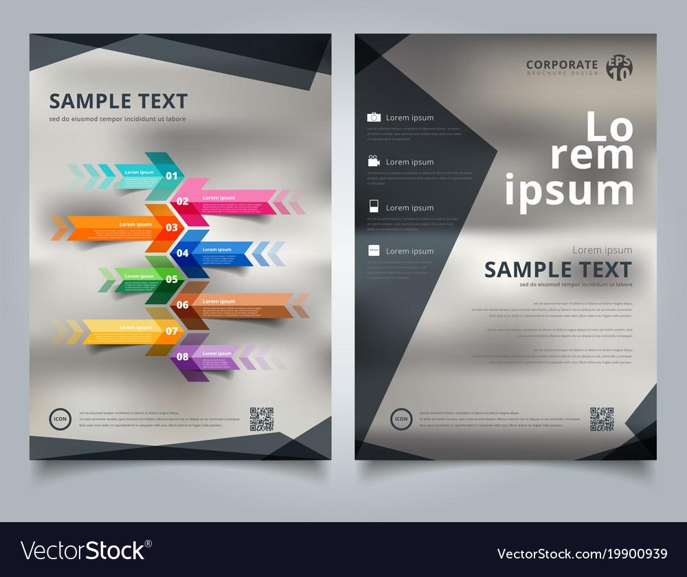 Brochure template geometric black color scheme vector image
