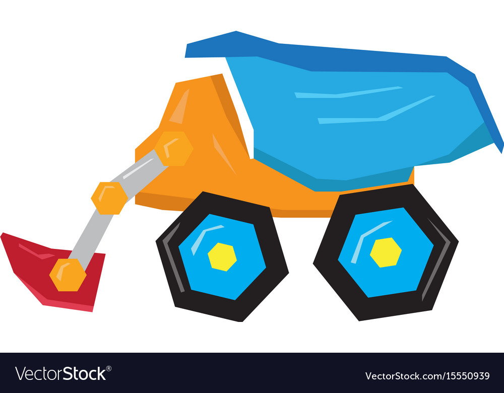 Isolated geometric truck toy vector image