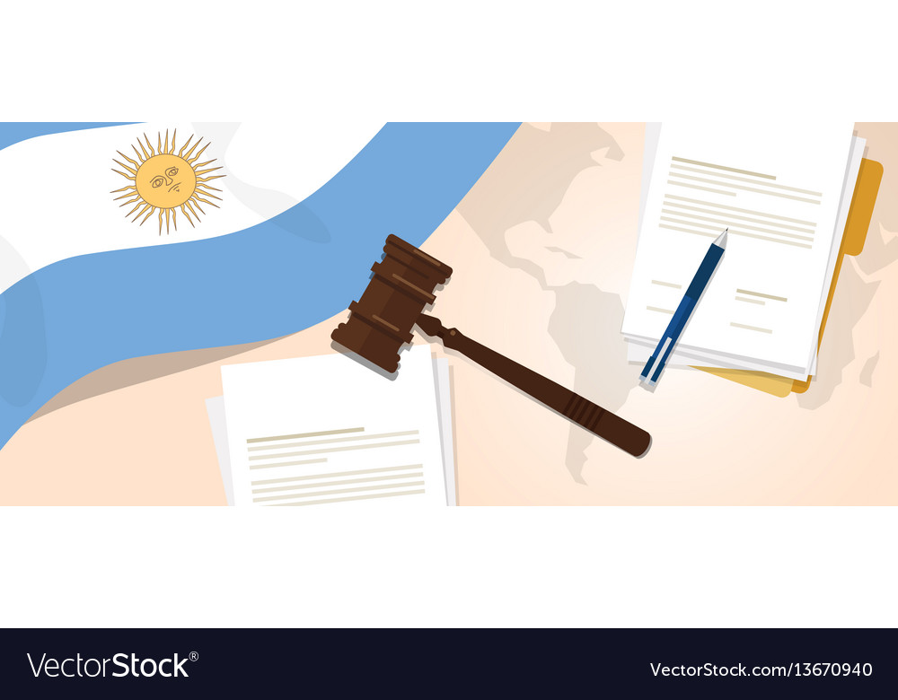 Argentina law constitution legal judgment justice vector image
