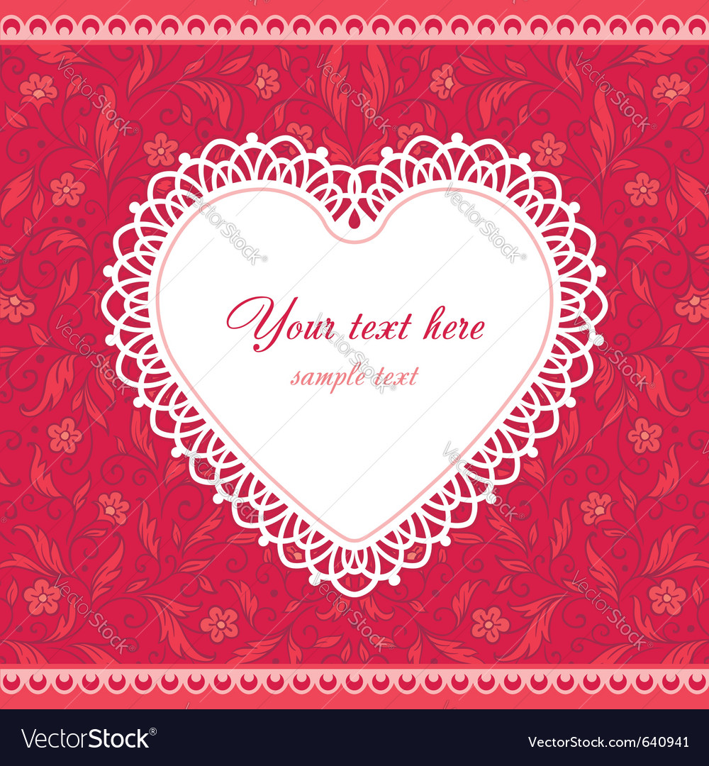 Valentines heart floral vector image