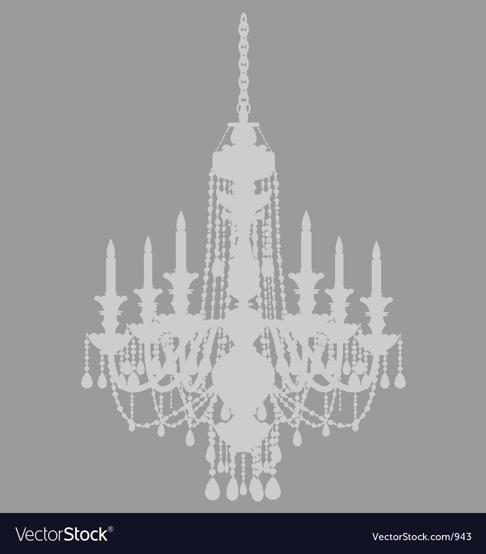Ghost chandelier vector image