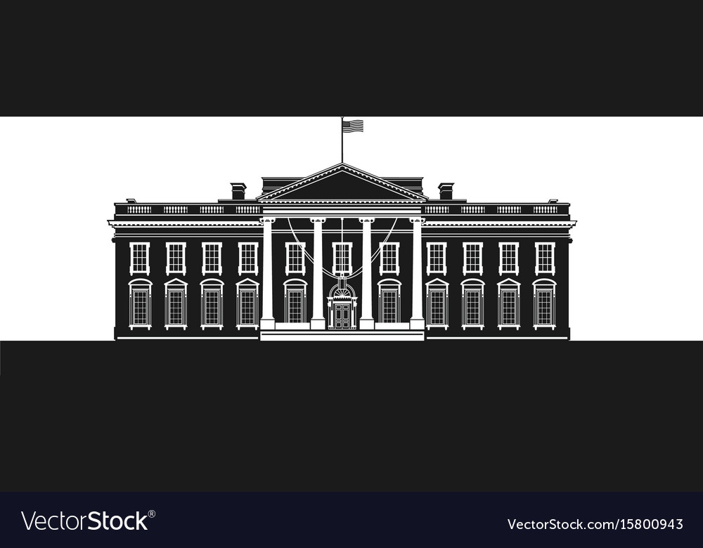 The white house vector image