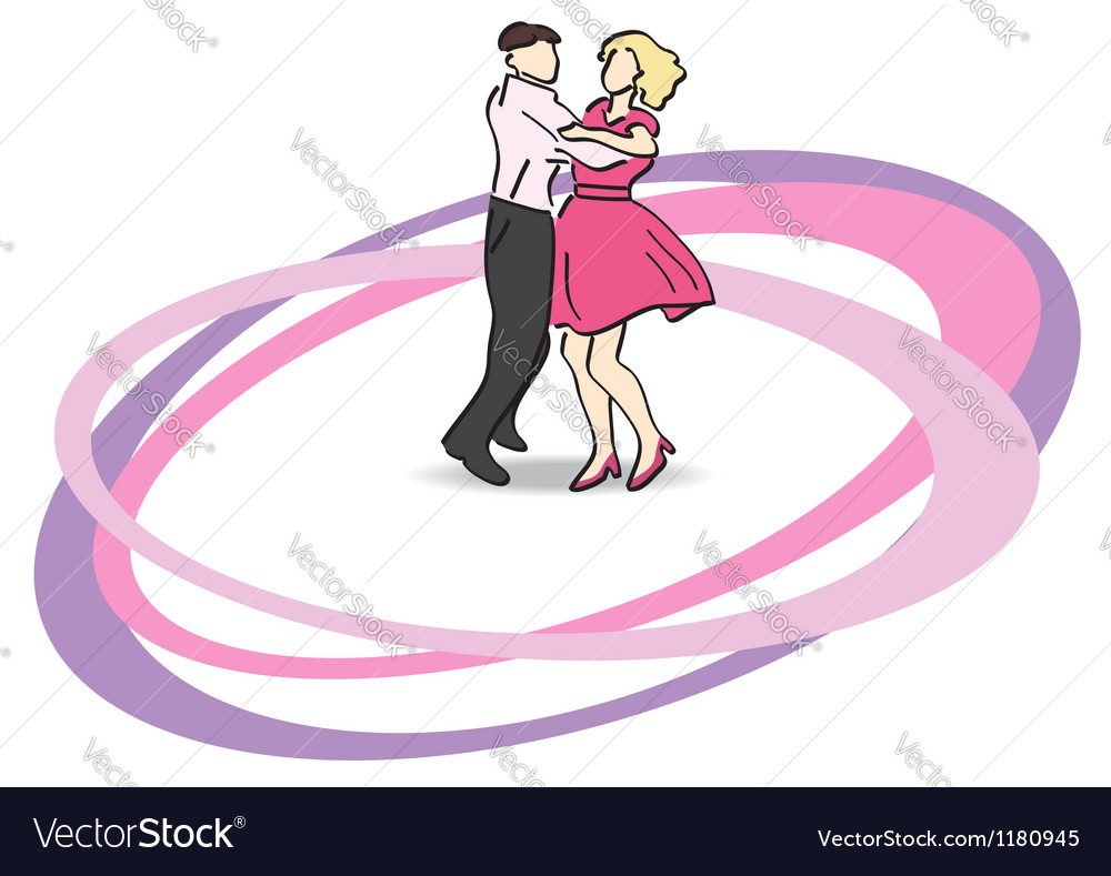 Dancers on the dancefloor vector image
