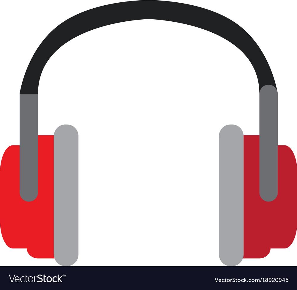 isolated fashion headphones royalty free vector image rh vectorstock com headphones vector free download headphones vector ai