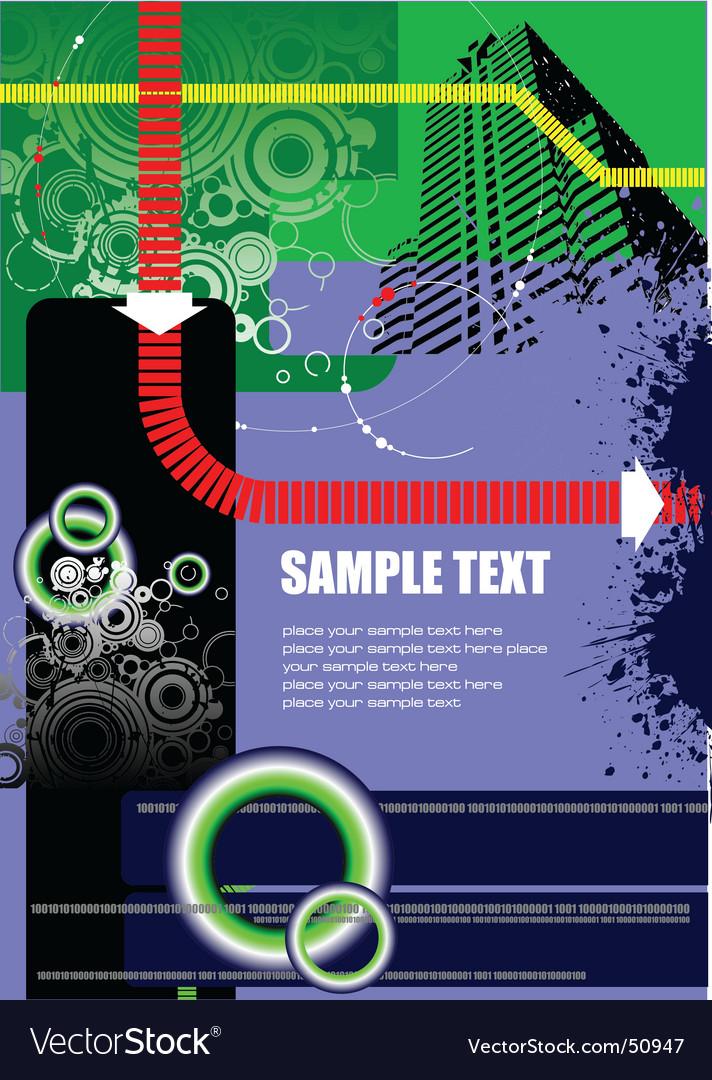 Flyer background vector image