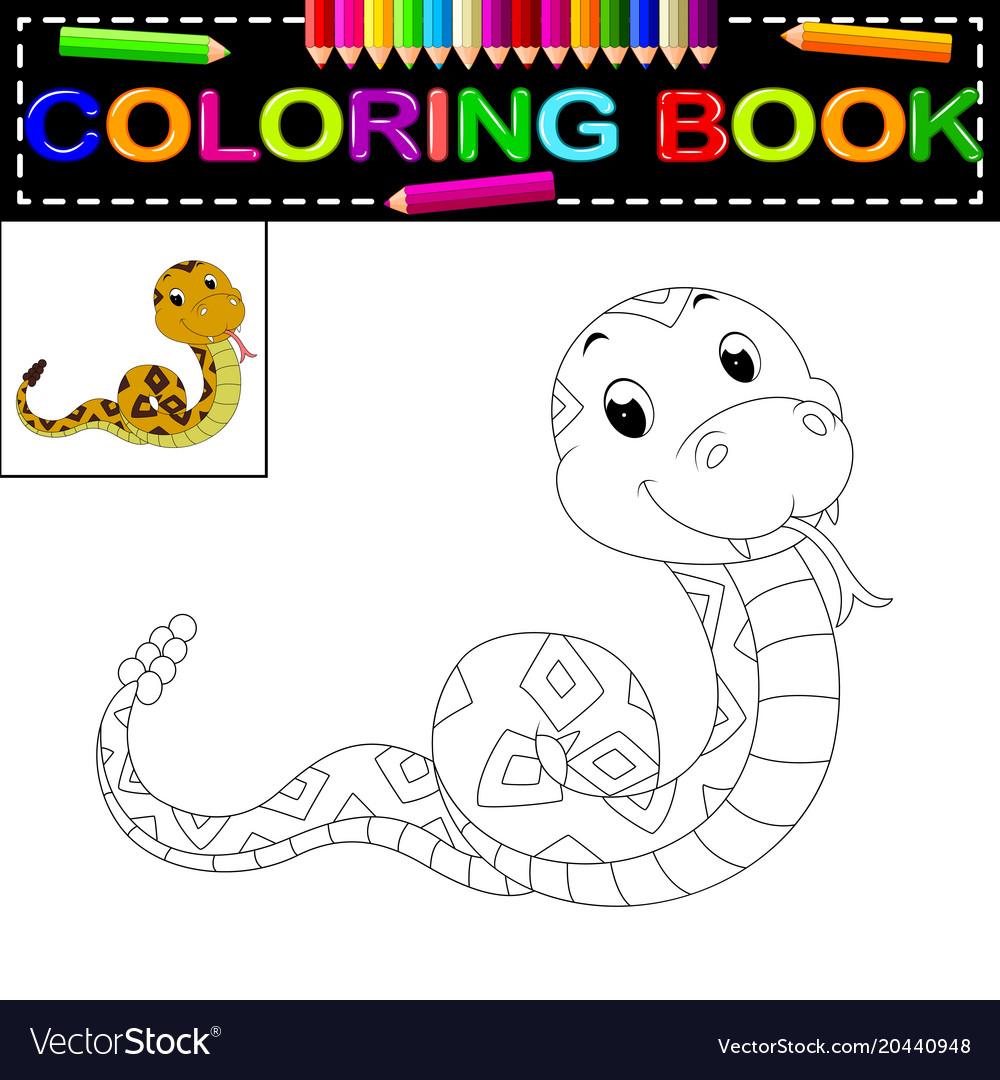 Snake coloring book Royalty Free Vector Image - VectorStock